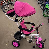 Детский трехколесный велосипед розовый