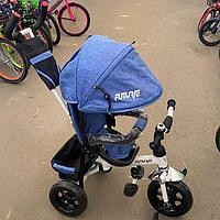 Детский трехколесный велосипед Future синий