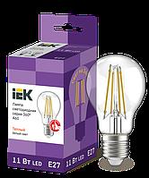 Лампа LED A60 шар прозр.11Вт 230В 6500К E27 серия 360°