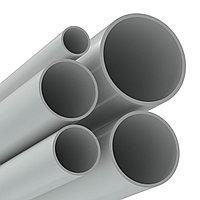 Труба ПВХ жёсткая гладкая д.25мм, лёгкая, 3м, цвет серый