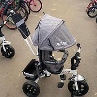 Детский трехколесный велосипед Future серый