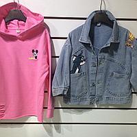 Двойка Disney худи и джинсовая курточка.