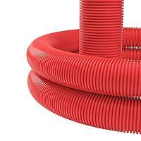 Двустенная труба ПНД гибкая для кабельной канализации д.160мм с протяжкой, SN6, 450Н, в бухте