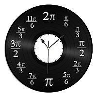 Настенные часы из пластинки Число Пи, подарок математику, учителю, преподавателю, геометрии, алгебры, 1487