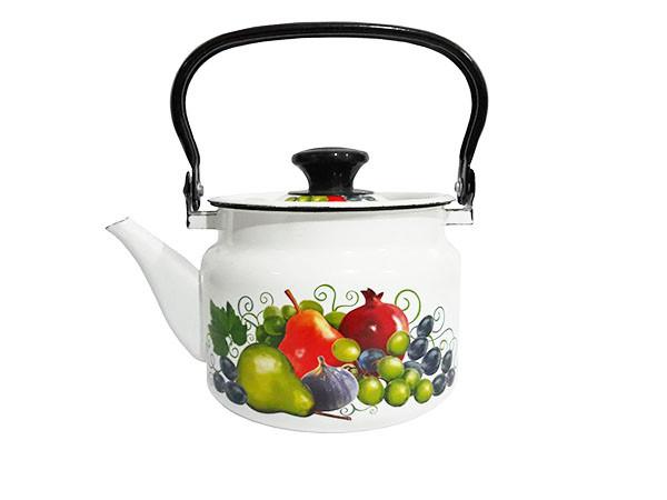 """Чайник эмалированный цилиндр. """"Восточные дары"""" 2 литра"""