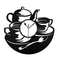 Настенные часы из пластинки Чайная, в кофейню, на кухню, 1516