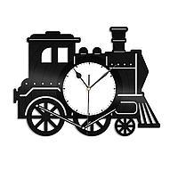 Настенные часы из пластинки Поезд, подарок машинисту поезда, работнику железной дороги, жд вокзала, 1520