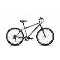 "Велосипед ALTAIR MTB HT 26 1.0 (26"" 7 ск. рост 19"") 2020-2021, черный/серый, RBKT1MN66005 /871200300"