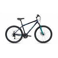 """Велосипед ALTAIR MTB HT 26 2.0 disc (26"""" 21 ск. рост 17"""") 2020-2021, темно-синий/бирюзовый, RBKT1MN6"""