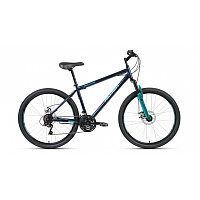 """Велосипед ALTAIR MTB HT 26 2.0 disc (26"""" 21 ск. рост 19"""") 2020-2021, темно-синий/бирюзовый, RBKT1MN6"""