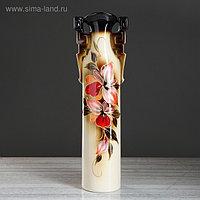 """Ваза напольная """"Сакура"""", орхидея, разноцветная, керамика, 53 см"""