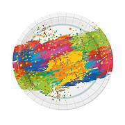 "Тарелка d 230мм, дизайн ""Краски праздника"", картон, 6 шт"