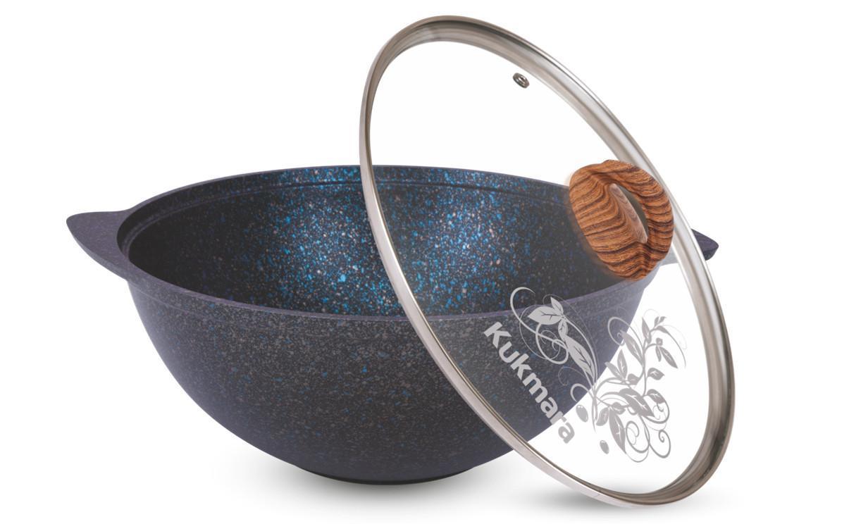 """Казан 3,5 литра """"Granit ultra"""" (blue) с каменным антипригарным покрытием"""
