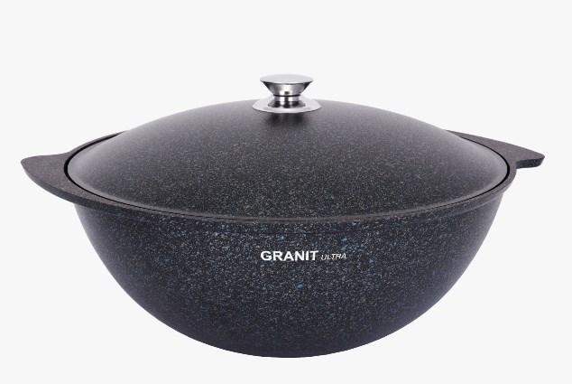 """Казан 9 литров """"Granit ultra"""" (blue) с каменным антипригарным покрытием"""