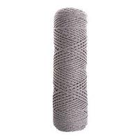 Шнур для вязания без сердечника 100 хлопок, ширина 2мм 100м/95гр (2115 серо-коричневый)