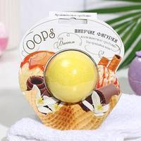 Шипучая фигурка OOPS 'МОРОЖЕНОЕ', ваниль 90г (шарик в блистере)