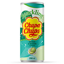 Напиток газ Chupa Chups ДЫНЯ КРЕМ 250ml Корея (24шт-упак)