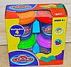 9201 Пластелин 4 баночки Colour dough 13*13см повтор