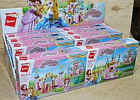 2613 констр Замок и принцесса 4 вида,8шт в уп, цена за 1шт 22*14см, фото 1