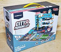 3301A Паркинг City 3этажа, 4 машинки, муз 36*29см, фото 1