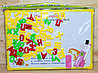 R9113-1  Доска два жирафа двухстороняя, цифры буквы в пакете 39*34см