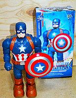345-1A Робот Капитан Америка на батарейках  25*13, фото 1