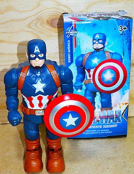 345-1A Робот Капитан Америка на батарейках  25*13
