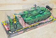 8661 Танк Siyue military +4 солдата в колбе 29*10см, фото 2