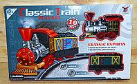 266A-4 Поезд Classic train с рельсами на батарейках поезд+вагоны, 37*23см, фото 1