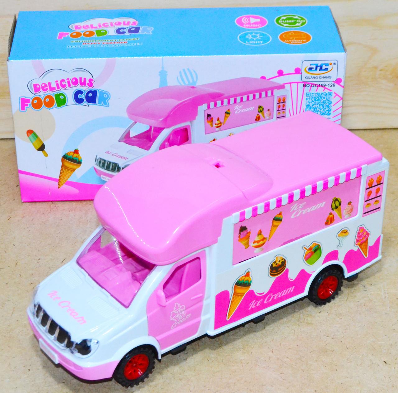 GC169-126 Грузовик с мороженным Pelicious Foodcar на батарейках с музыкой 24*12