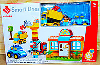 77004 Конструктор Smart Lines строительная площадка 68 дет 45*30, фото 1