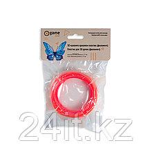 Филамент (нить) для 3D ручки Красный светящийся PLA 10м.