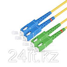 Патч Корд Оптоволоконный SC/UPC-SC/APC SM 9/125 Duplex 3.0мм 1 м