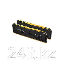 Комплект модулей памяти Kingston HyperX Fury RGB HX430C15FB3AK2/16 DDR4 16G (2x8G) 3000MHz