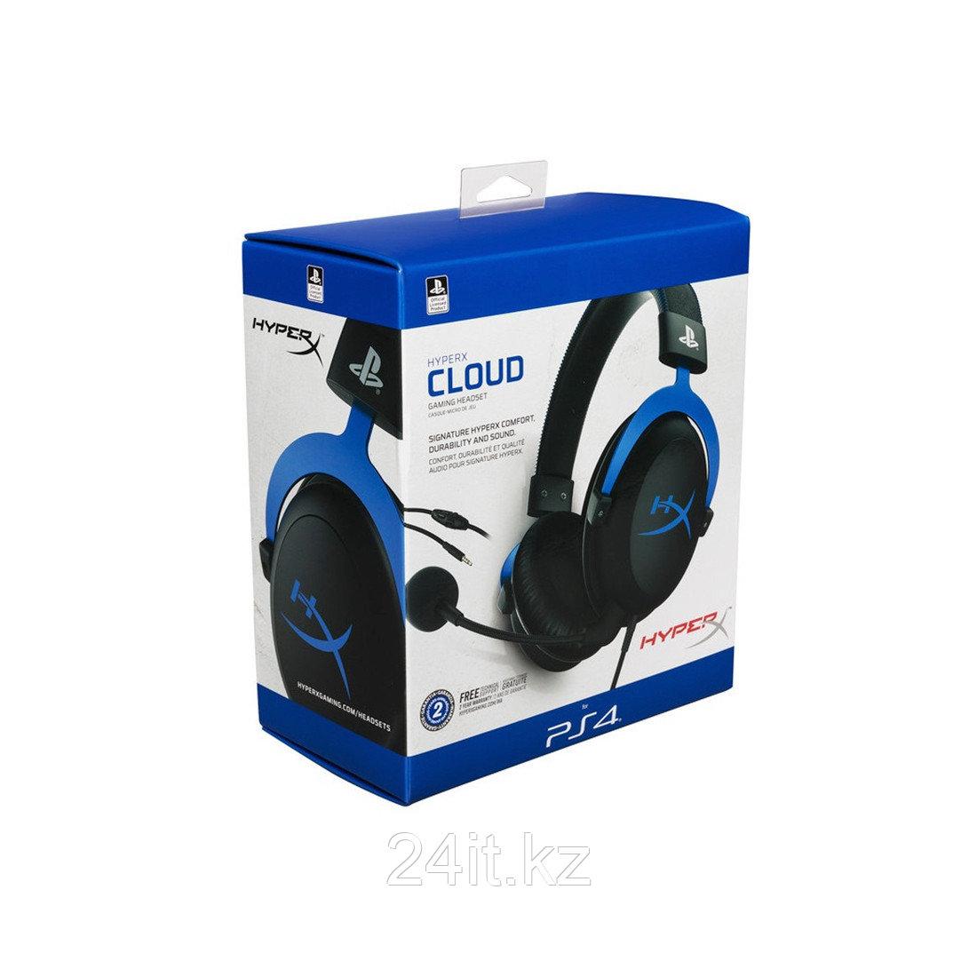 Гарнитура HyperX Cloud Gaming Headset - Blue for PS4 HX-HSCLS-BL/EM - фото 3