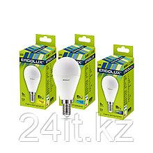 Эл. лампа светодиодная Ergolux G45/6500K/E14/9Вт, Дневной