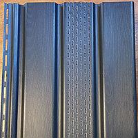 Софит виниловый Акрил 3,0 GL Графит частично перфорированный, фото 1