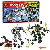 Конструктор Bela 10399 Битва механических роботов. Аналог LEGO Ninjago 70737 Titan Mech Battle.
