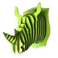 Декор Голова носорога Rhino GREEN