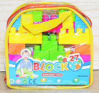 Упаковка немного порвана!!! 0102-6 Конструктор Blocks 27 дет в сумочке 16*16, фото 1