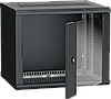 ITK Шкаф настенный LINEA W 6U 600х450мм дверь стекло RAL 9005