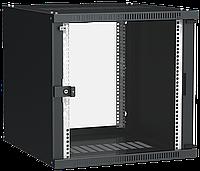 ITK Шкаф настенный LINEA WE 9U 550х350мм дверь стекло черный