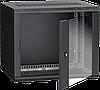 ITK Шкаф настенный LINEA W 9U 600х450мм дверь стекло RAL 9005