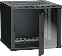 ITK Шкаф настенный LINEA W 9U 600х600мм дверь стекло RAL 9005