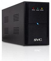 UPS, SVC, V-2000-L, Диапазон работы AVR: 175-275В, Бат,: 12В/9Ач*2шт,, 2 вых,: Shuko CEE7, Чёрный