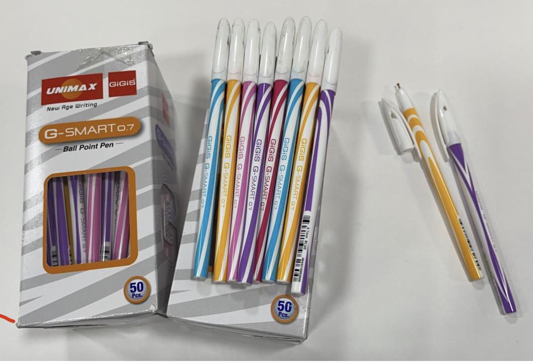 Ручка шариковая UNI-MAX G-SMART 0.7мм синяя