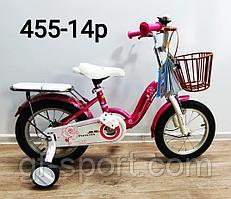 Велосипед Phoenix розовый оригинал детский с холостым ходом 14 размер