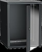 ITK Шкаф настенный LINEA W 18U 600х600мм дверь стекло RAL 9005