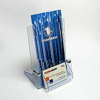Подставка для буклетов (10х21) с визитницей. Модель: АС3-002/В (ф)