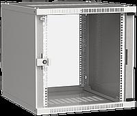 ITK Шкаф настенный LINEA WE 12U 600х450мм дверь стекло серый